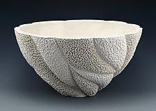 Ophelia Coastal Collage Bowl by Judi Tavill (Ceramic Bowl)