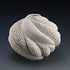 Savannah Coral Collage Vessel by Judi Tavill (Ceramic Vessel)