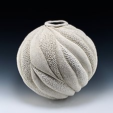 Adelaide Large Coastal Collage Vessel by Judi Tavill (Ceramic Vessel)