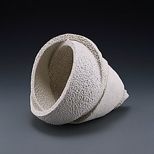 Wrapping Conical Form A by Judi Tavill (Ceramic Sculpture)