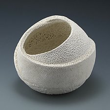 Experimental Round Sculptural Wrapping Form B by Judi Tavill (Ceramic Sculpture)