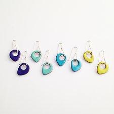 Sway Earrings by Jenny Windler (Enameled Earrings)
