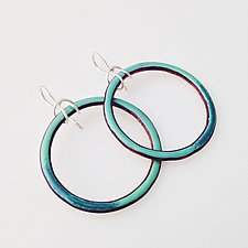 Looper Earrings by Jenny Windler (Copper & Enamel Earrings)