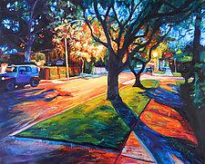 Neighborhood Glow by Bonnie Lambert (Oil Painting)