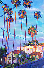 Echo Park Sentinels by Bonnie Lambert (Oil Painting)