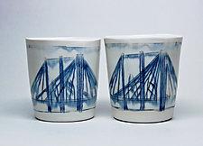 Bridge Whiskey Cups by Nicole Aquillano (Ceramic Mug)