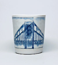 Bridge Whiskey Cups by Nicole Aquillano (Ceramic Mug)