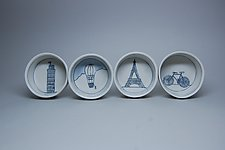 Tiny Round Travel Dishes by Nicole Aquillano (Ceramic Bowl)