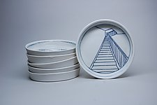 Stairway Oil Dip Dish by Nicole Aquillano (Ceramic Serving Dish)