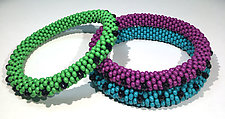 Crochet Bangles by Sher Berman (Beaded Bracelet)