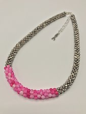 Pink Agate Necklace by Sher Berman (Beaded Necklace)
