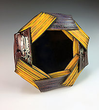 Folded Mirror by Thomas Harris (Ceramic Mirror)