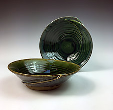 Folded soup bowl, set of 2 by Thomas Harris (Ceramic Bowls)