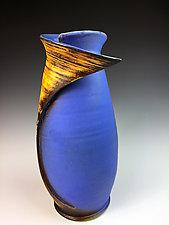 Folded Vase III by Thomas Harris (Ceramic Vase)