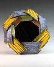 Folded Mirror by Thomas Harris (Ceramic Mirror)
