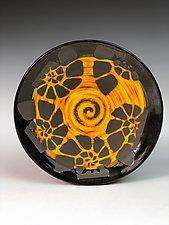 Nautilus Patterned Plate by Thomas Harris (Ceramic Plate)
