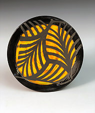 Leaf Patterned Plate by Thomas Harris (Ceramic Plate)
