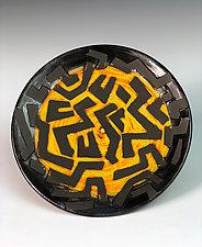 Geometric Pattern Plate by Thomas Harris (Ceramic Plate)
