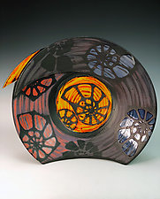 Large Bowl with Nautilus by Thomas Harris (Ceramic Bowl)