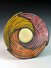 Triangle Bowl with Vector Square Pattern by Thomas Harris (Ceramic Bowl)