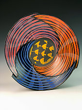 Triangle Bowl with Tesselation by Thomas Harris (Ceramic Bowl)