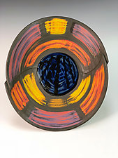Folded Sanded Bowl 2 by Thomas Harris (Ceramic Plate)