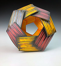 Mise en Abyme I by Thomas Harris (Ceramic Wall Sculpture)