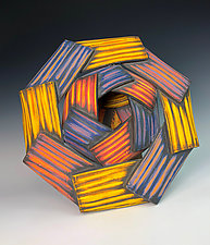 Mise en Abyme with Four Layers by Thomas Harris (Ceramic Sculpture)