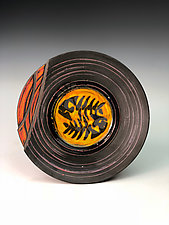 Plate with Fish and Nautilus by Thomas Harris (Ceramic Platter)