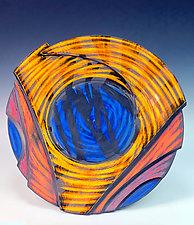 Large Bowl with Nautilus III by Thomas Harris (Ceramic Bowl)