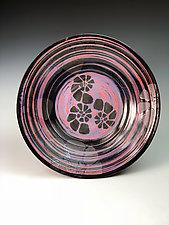 Stone Nautilus Pattern Plate by Thomas Harris (Ceramic Plate)