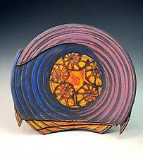 Plate with Nautilus by Thomas Harris (Ceramic Platter)