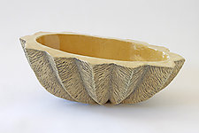 Small Oval XIV by Emil Yanos (Ceramic Bowl)