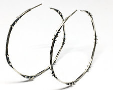 Flux Ball Hoops by Nikki Nation (Silver Earrings)