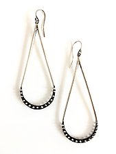 Droplet Crescent Earrings by Nikki Nation (Silver Earrings)