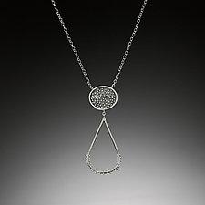 Dot Droplet Necklace by Nikki Nation (Silver Necklace)