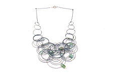 Flow Necklace by Meghan Patrice  Riley (Steel & Stone Necklace)