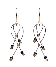 Mini Lattice Earrings by Meghan Patrice  Riley (Gold, Steel & Stone Earrings)
