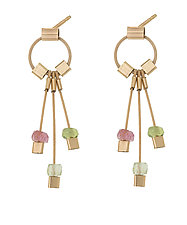 Aerial Posts by Meghan Patrice  Riley (Gold, Silver & Stone Earrings)