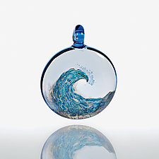 Catch a Wave by Billy Mayer (Art Glass Ornament)