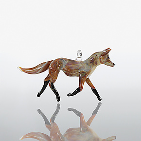 Fox Trot by Kevin McKay, Maki Kawakubo and Kirsten Loewen (Art Glass Ornament)