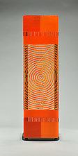Impact ColorCentric Orange Totem by Terry Gomien (Art Glass Sculpture)
