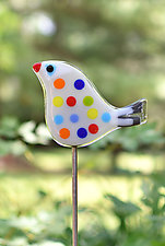 Twister and Scout Garden Birds by Terry Gomien (Art Glass Sculpture)