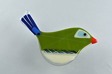Feathered Friends by Terry Gomien (Art Glass Wall Sculpture)
