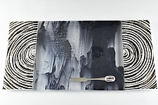 Stormy Age Rings by Terry Gomien (Art Glass Tray)