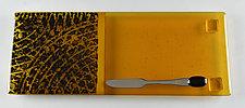 Earthen Honey by Terry Gomien (Art Glass Tray)