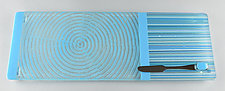 Medium Cyan Colorcentric Sky by Terry Gomien (Art Glass Tray)