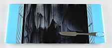 Long Stormy Sky by Terry Gomien (Art Glass Tray)