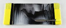 Long Stormy Lemon by Terry Gomien (Art Glass Tray)