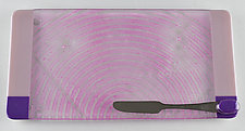 Plum Fog ColorCentric by Terry Gomien (Art Glass Tray)